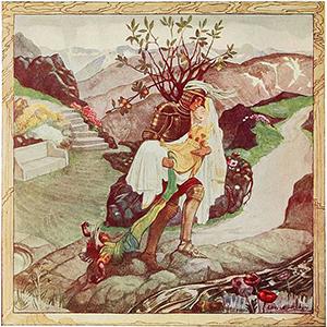 Illustration from Polish Fairy Tales.