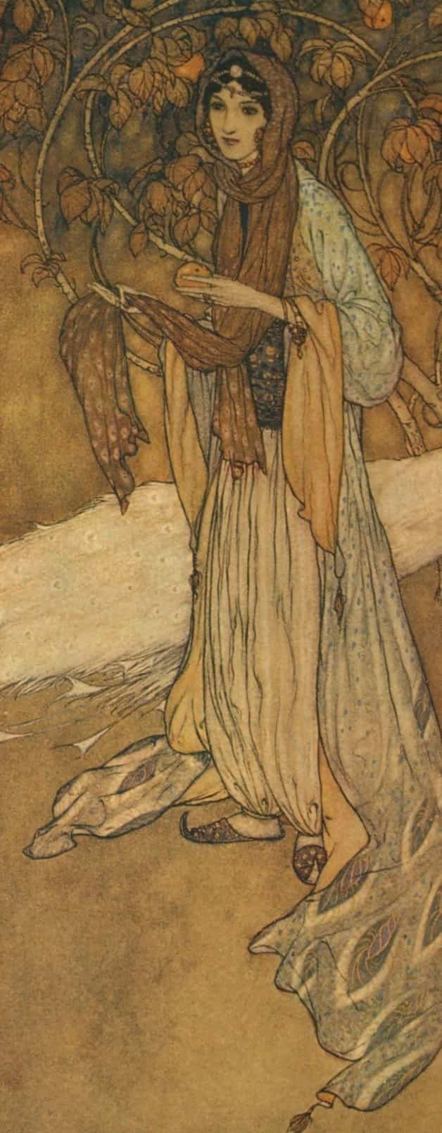 Image of Princess Scheherazade from Arabian Nights by Edmund Dulac