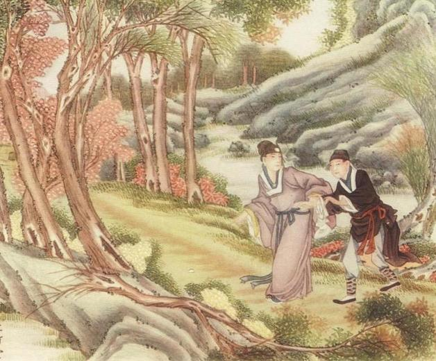 """They saw shining in the pathway, directly in front of them, a lump of gold."" Illustration by Li Chu-T'ang, published in A Chinese Wonder Book by Norman Hinsdale Pittman(1919), E.P. Dutton and Company."