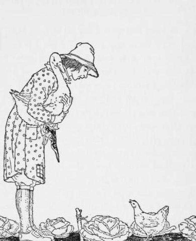 """What the good-man does is sure to be right!"" Illustration by Maude and Miska Petersham, published in Twenty-four Unusual Stories for Boys and Girls by Anna Cogswell Tyler (1921), Harcout and Brace."