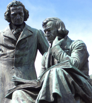 Statue of the Brothers Grimm in Hanau, Germany