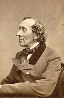 Photograph of Hans Christian Andersen, 1836, by Thora Hallager