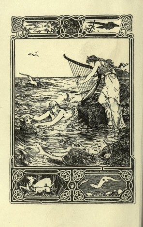 The sea maiden, an illustration for a Celtic fairy tale by Joseph Jacobs, with artwork by John D. Batten