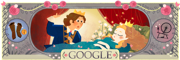 Google Doodle celebrating Sleeping Beauty