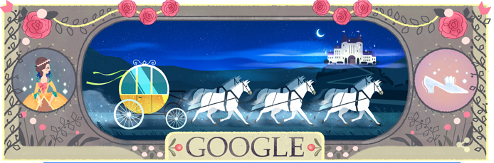 Google Doodle celebrating Cinderella
