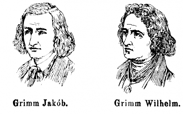 Wilhelm and Jakob Grimm. Illustrator unknown. Used under Creative Commons from Wikipedia.org