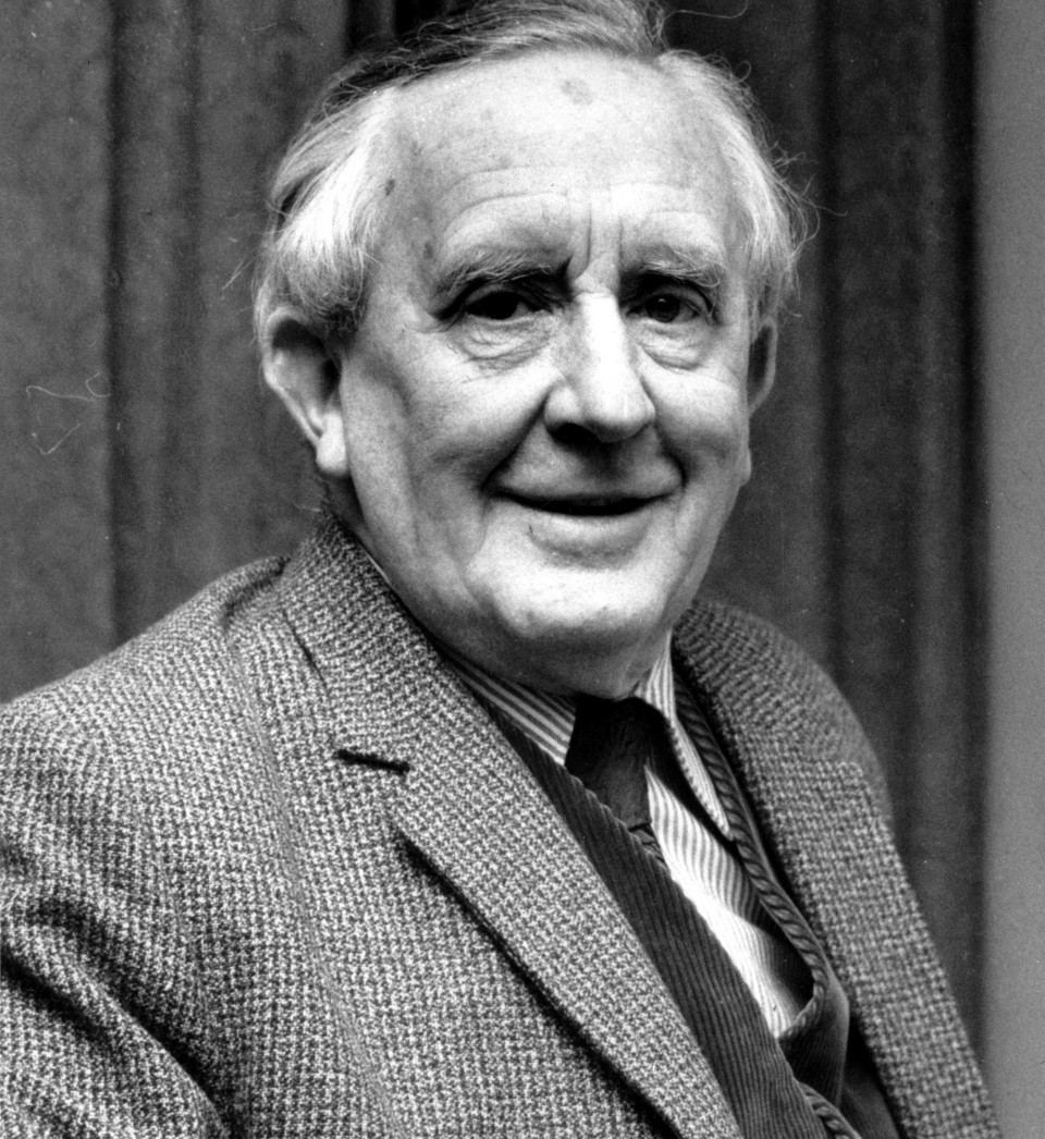 A photo of author J.R.R. Tolkien from 1967