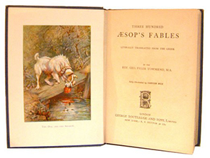 Title page of Three Hundred Aesop's Fables (1867)