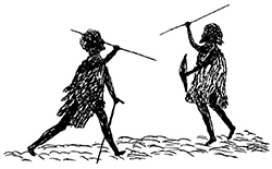 Illustration by Tommy Mcrae from the book Australian Legendary Tales