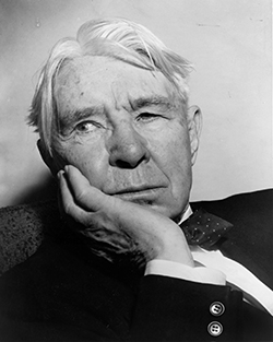 Photograph of Carl Sandburg by Al Ravenna, World Telegram staff photographer, 1955.
