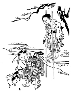 Illustration from Child Life in Japan.