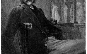 Image of Andrew Lang from Century Mag. Painted by W.B. Richmond, A.R.R. Engraved by T. Johnson. Photographed by F. Hollyer