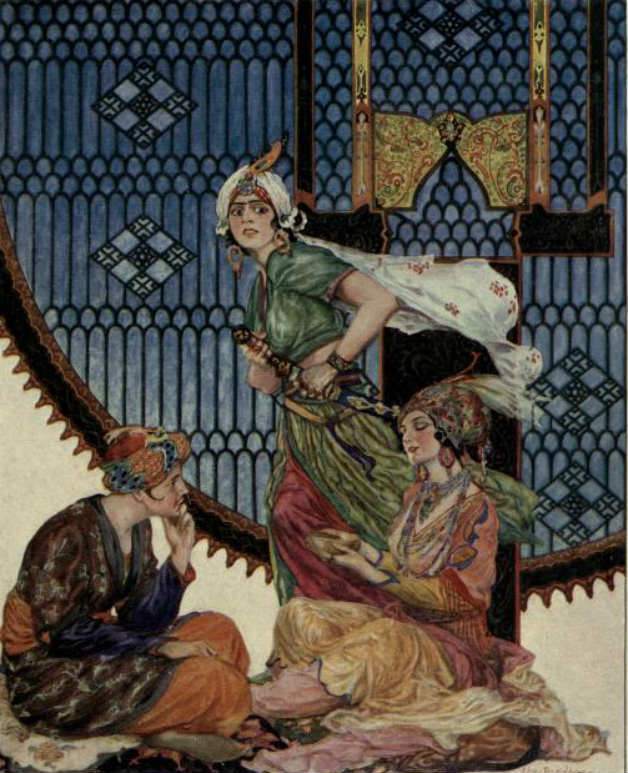 An image from the story The Necklace of Jewels from the collection More Tales from the Arabian Nights