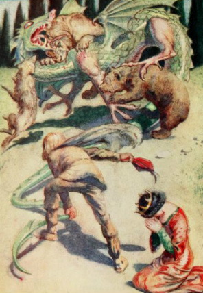 Image of the dragon from The Italian Fairy Book