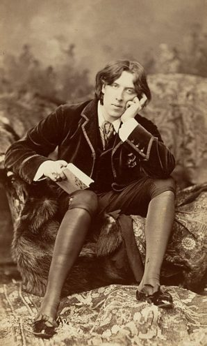 Oscar Wilde photographed in 1882 by renowned portrait photographer Napoleon Sarony.