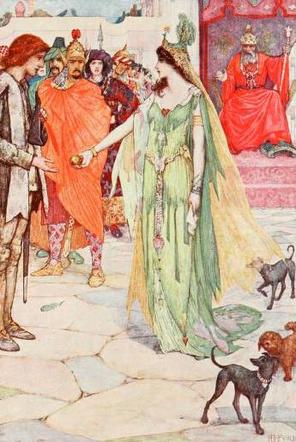 """The princess chooses."" Illustration by H.J. Ford. Published in The Olive Fairy Book by Andrew Lang(1907), Longmans and Green."