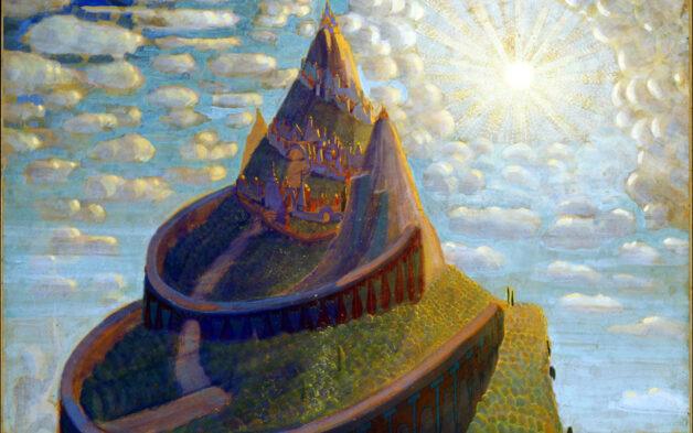 "Art by Mikalojus Konstantinos Ciurlionis (1909). ""Fairy Tale Castle."""