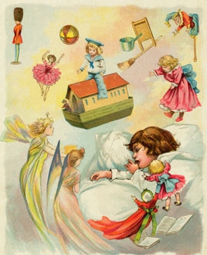 Illustration from Night Before Christmas, one of the most famous Christmas stories.