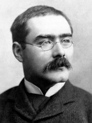 Portrait of Rudyard Kipling from the biography Rudyard Kipling by John Palmer, published in 1895, republished in 1907